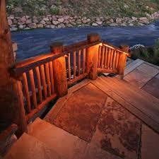 deck accent lighting. this deck has romantic accent lighting l
