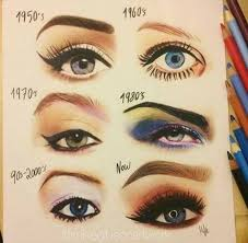 style glamourdaze16 makeup across the decades microblading eyebrowsmakeup techniquesmakeup tipseye makeup50s 50s makeup eyes ideas 1950s