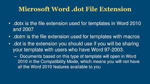 dotx file extension setting defaults in microsoft word for accessibility ppt download