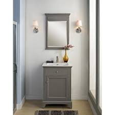 Vanity Sconces Bathroom Bathroom Grey 24 Bathroom Vanity With Mirror And Wall Sconces