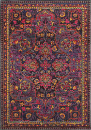 oriental weavers bohemian 2268m navy pink rug traditional hall and stair runners by plushrugs