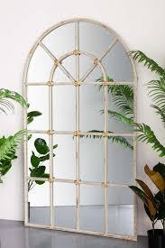 antique white arch windowpane indoor