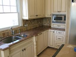 image of distressed white kitchen cabinets color