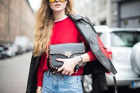 street style fashion photo woman in jeans and leather jacket