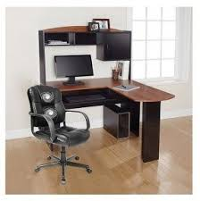 office desk with shelf. this lshaped office desk with storage shelves and cabinet is shelf s