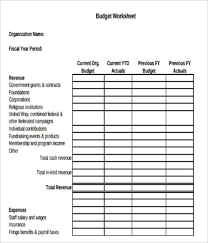 Sample Budget For Non Profit Organization 10 Free Non Profit Budget Templates Excel Word Sample Formats