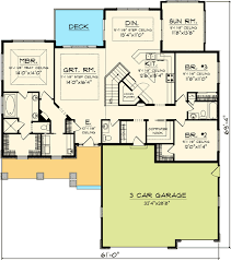 plan 89852ah craftsman ranch with sunroom house plans