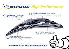 Michelin Wiper Chart Michelin High Performance All Season Wiper Blade 21