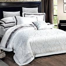 luxury silver bedding thin layer quilted luxury silk bedding set
