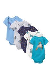 Rosie Pope Size Chart Rosie Pope 5 Pack Dragon Bodysuits Baby Boys Nordstrom Rack