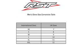 Uk Glove Size Conversion Chart Rst Cruz Classic Leather Riding Glove Ce Approved Brown