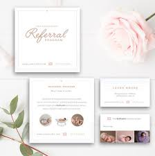Photography Referral Card Photoshop Template Referral Program Tell A Friend Photographer Templates Instant Download