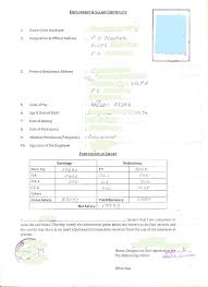 General Resume Format Of Salary Certificate Letter Cover