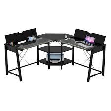 z line glass computer desk