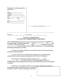 notice to owner form florida fillable online florida notice of termination of notice of