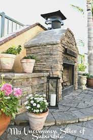 how to build an outdoor stacked stone fireplace step by step tutorial with pictures and