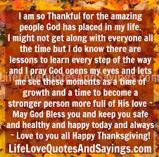 Thanksgiving Quotes For Family Custom Quotes About God Thankful 48 Quotes