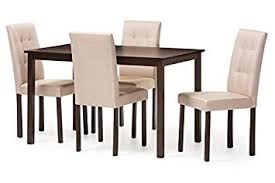 image unavailable image not available for color baxton studio 5 piece andrew beige fabric upholstered grid tufting dining set