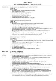 Investment Director Resume Samples | Velvet Jobs