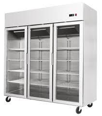 atosa triple door showcase glass fridge ycf9403