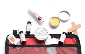 an herbal first aid kit for your weekend car camping trip might look like this