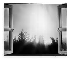 open window at night. Unique Open Window Fleece Blanket Featuring The Photograph Open At Night Bw By  Simon Bratt Photography LRPS For E