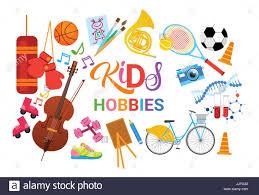 hobbies for kids. kids hobbies art classes logo workshop creative artistic school for children development banner kids e