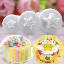 Wilton Baking Accessories Plastic 3pcs Star Shape Cupcake Mold