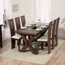 avignon dark 200cm dining table with 6 arizona chairs