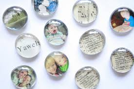 like the other magnets i shared last week these are really easy and inexpensive to make i printed out some pictures in tiny proportions then found some