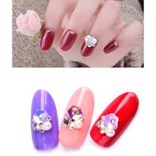 Online Shop Nail Pearl 10pcs Flower Glitter Rhinestone Nail Art ...