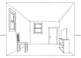 Room Drawn In One Point Perspective