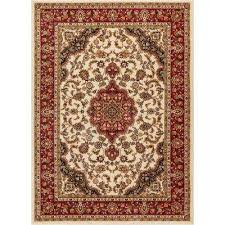 barclay medallion kashan ivory 8 ft x 10 ft traditional area rug