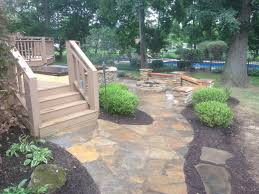 flagstone landscaping. Flagstone Patio With Built-in Hot Tub Flagstone Landscaping S