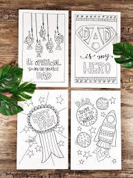 Father's day cards | cute father's day card templates for kids to personalize with their own father's day messages and you can even add your own images to the : Four Free Father S Day Cards To Print And Color Creatively Beth