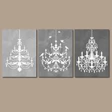 chandelier wall art canvas or prints gray watercolor wall art ombre bathroom wall art