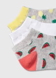 <b>Короткие носки с жаккардом</b> «фрукты» (LN6W75-92) купить за ...