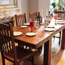 english beam farmhouse extendable reclaimed wood dining table dark