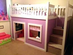loft bed tent princess bunk playhouse purple do it yourself home projects from white girl cover diy