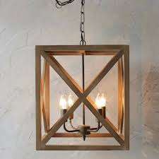wood and metal square chandelier i wonder how easy it would be to build a