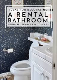 bathroom decorating on a shoestring budget. check out these awesome and budget-friendly ideas for decorating a rental bathroom (using on shoestring budget
