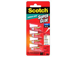 scotch adhesive super glue single use 017 oz 4 pc