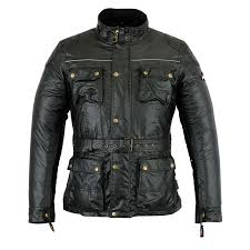 warrior black mens motorcycle wax cotton armour motorbike ce water proof jackets 1