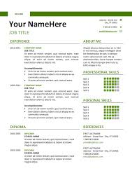 Free Simple Resume Glamorous Free Clean And Simple Resume Template