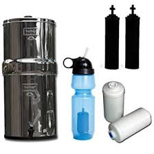 berkey water filter fluoride. Travel Berkey Water Filter System, With Two Black Filters, Fluoride Filters