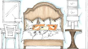 Inspiring Example For Interior Design Bedroom Sketches