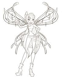 Winx Club Coloring Pages Colors Of Pictures