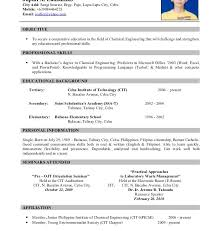 Download Samples Of Resume