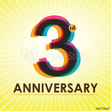 anniversary poster template 3rd anniversary poster template design in retro style buy this