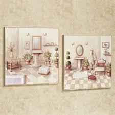 soothing retreat bath wall art cream set of two on bathroom wall art set with soothing retreat bathroom scene wall art set
